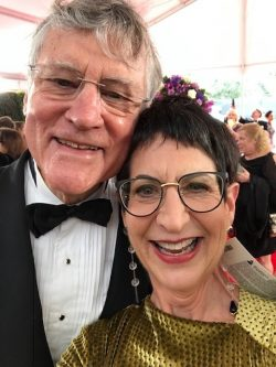 Bill Ferris at the Grammys with his wife Marcie Cohen Ferris.