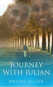 Journey with Julian book jacket with father and son faces superimposed on treetops