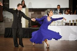 Freeman participates in a ballroom dancing competition. (photo courtesy of Ronit Freeman)