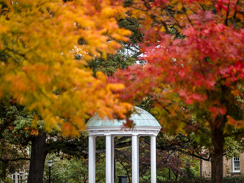 The Old Well surrounded by hardwoods during October, 2019.