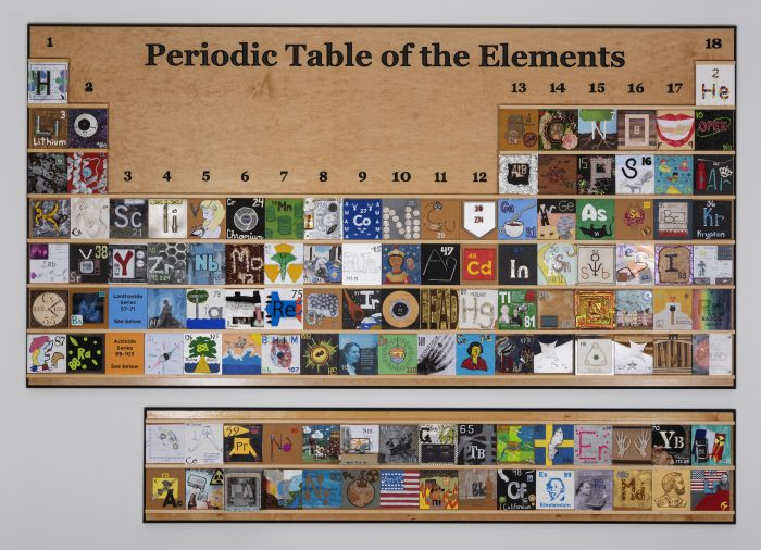 The periodic table of elements that hangs in U.N.C.'s Kenan Science Library.