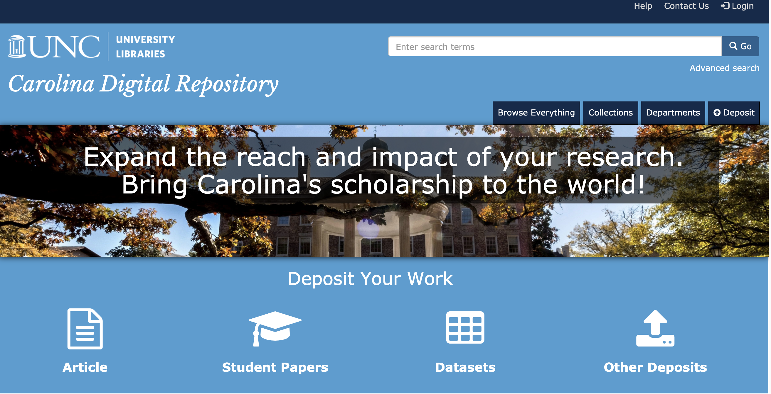 Carolina Digital Repository website