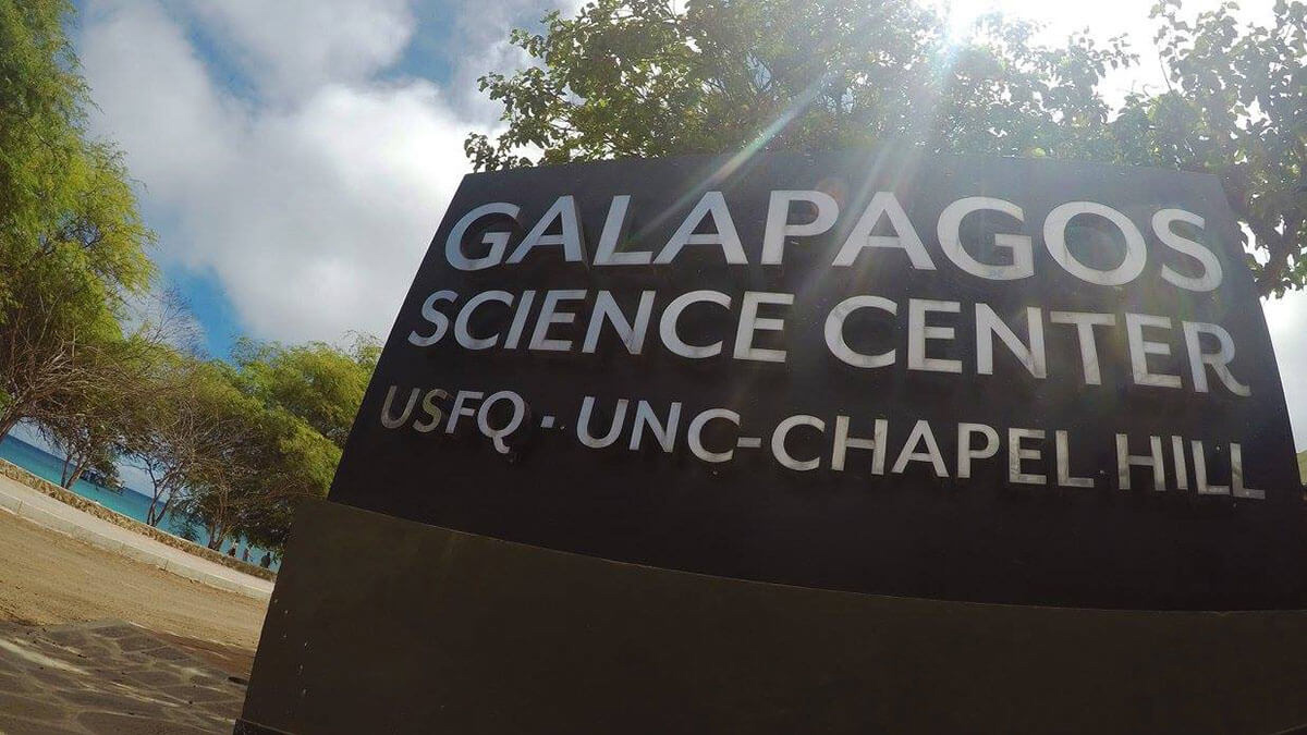 The sign for the UNC-Chapel Hill Galapagos Science Center