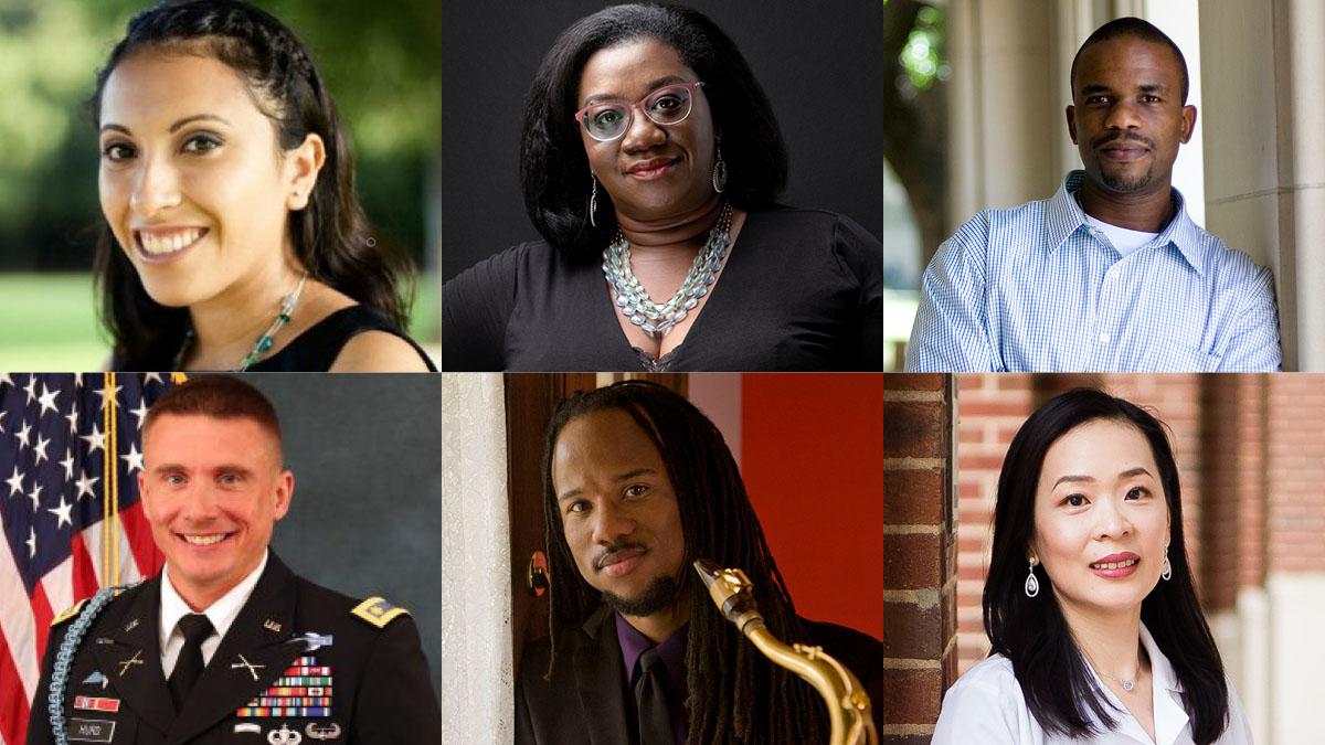 Some of Carolina's new faculty: Rahsaan Barber, Tressie McMillan Cottom, Daniel Hurd, Tanya Garcia, Grace Wu.