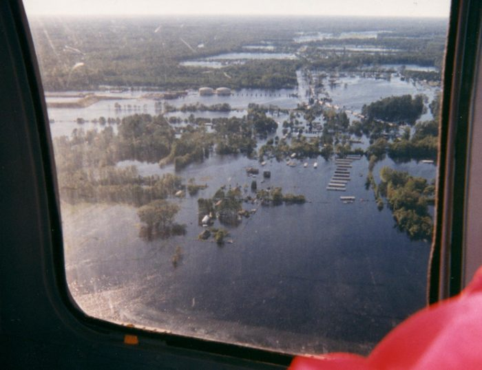Flooding along the Tar River after Hurricane Floyd