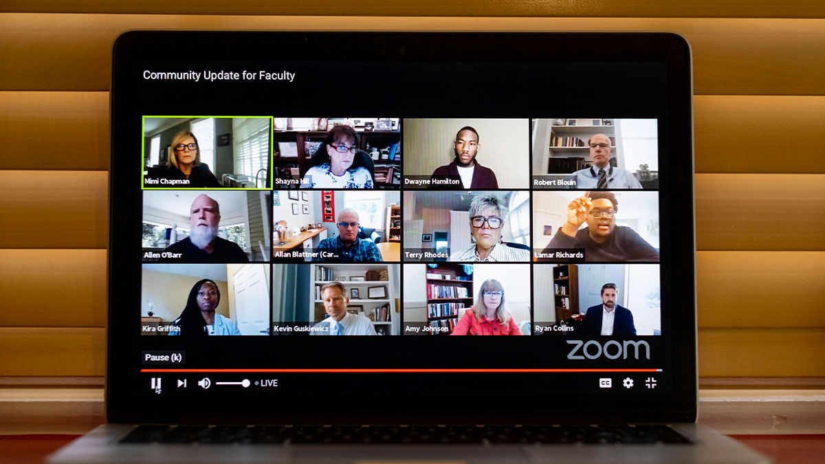 screen shot of remote meeting