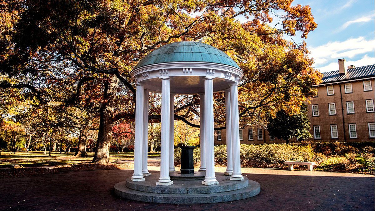 The Well with fall foliage behind it