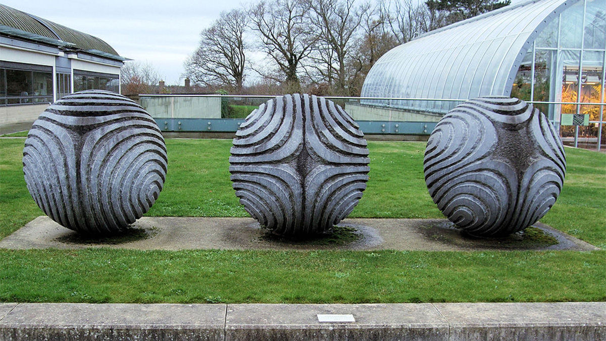 Peter Randall-Page sculpture symbolising the seed collection stored in the Millennium Seed Bank.