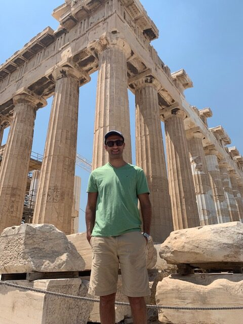 In 2019, Khairat visited the Acropolis in Athens, Greece.