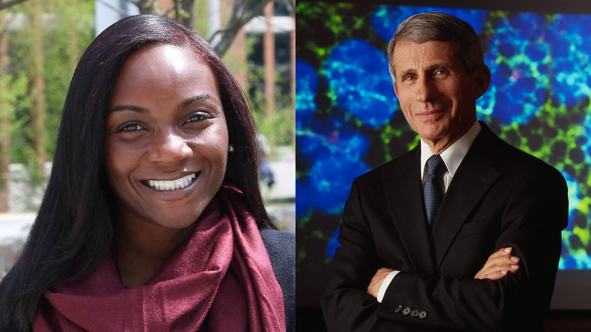Drs. Anthony Fauci and Kizzmekia Corbett