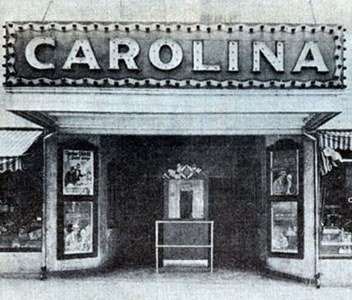 Historic picture of Carolina Theater.