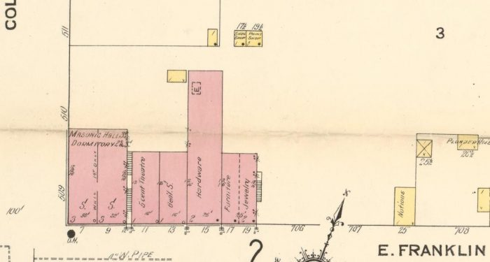 Old street plan of Franklin St.