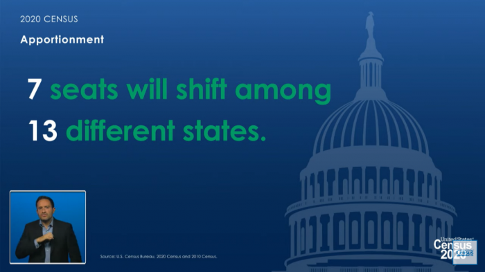 7 seats will shift among 13 different states