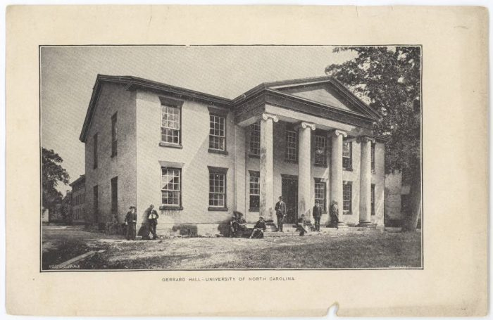 Historic image of Gerrard Hall.