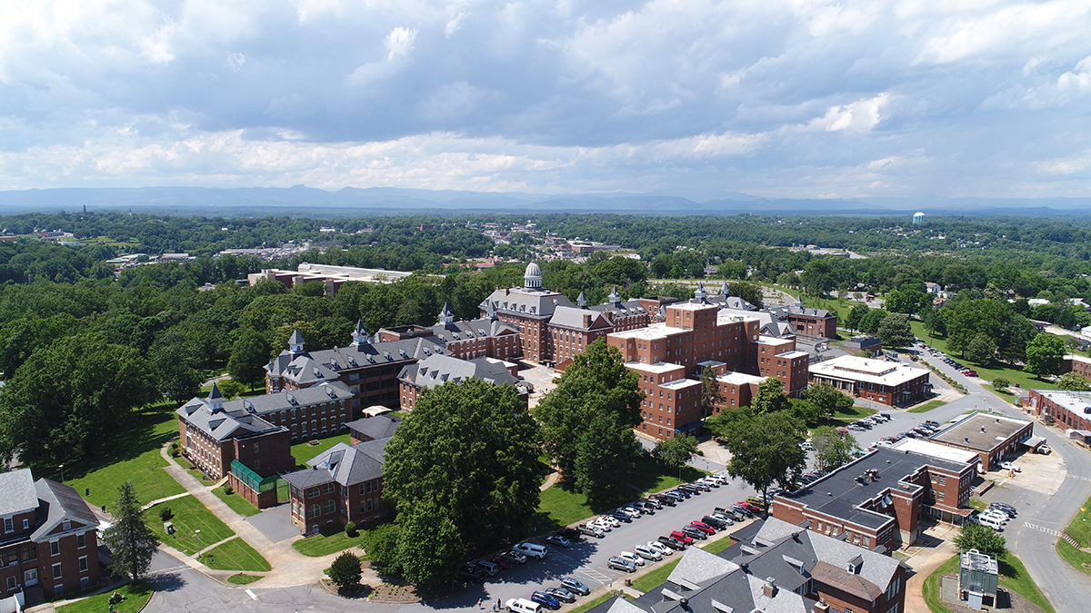 Aerial photo of Broughton District.