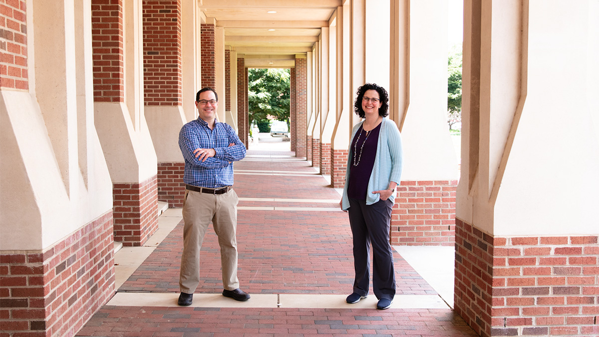 Brian Strahl, PhD, interim chair and professor of biochemistry and biophysics at the School of Medicine, and Samantha Pattenden, PhD, associate professor at the Eshelman School of Pharmacy,