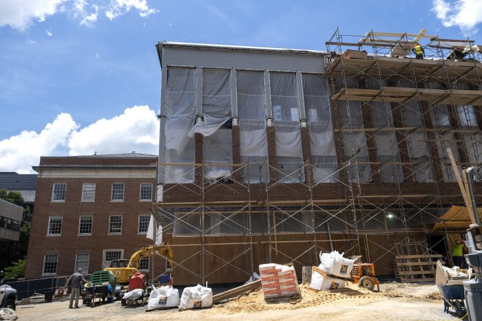 Construction on Curtis Media Center
