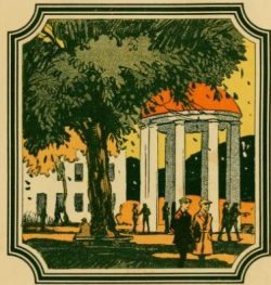 Drawing of the Old Well from 1922 Carolina yearbook the Yackety Yack.