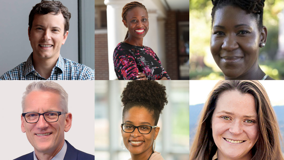 New faculty in schools: Gallemore, Osamudia, Williams, Wiesman, James, Sheffield-Abdullah