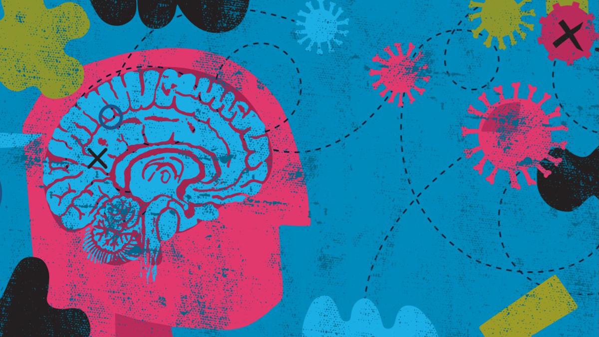 Artwork showing human brain.