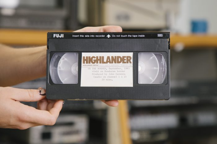 A VHS tape of a visit to the Honduran border in September of 1983.